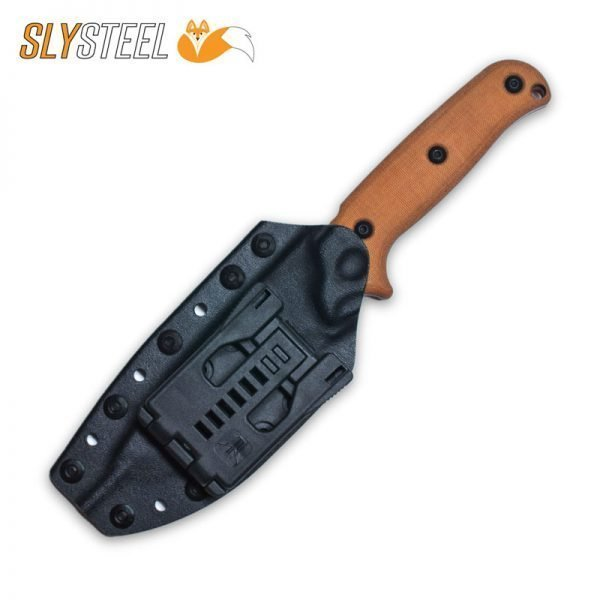 Photo of Skeletek Bushcraft Blade-Tech Universal Belt Clip knife for survival, hunting, and camping by SLYSTEEL