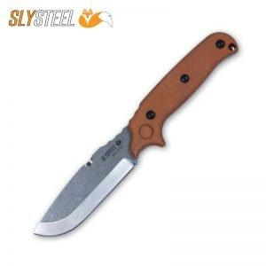 Photo of Skeletek Bushcraft Clear Cerakote knife for survival, hunting, and camping by SLYSTEEL