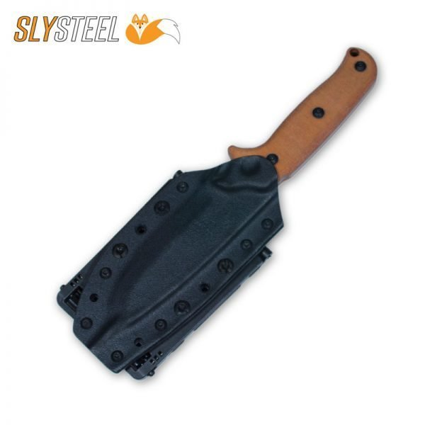 Photo of Skeletek Bushcraft Kydex sheath knife for survival, hunting, and camping by SLYSTEEL
