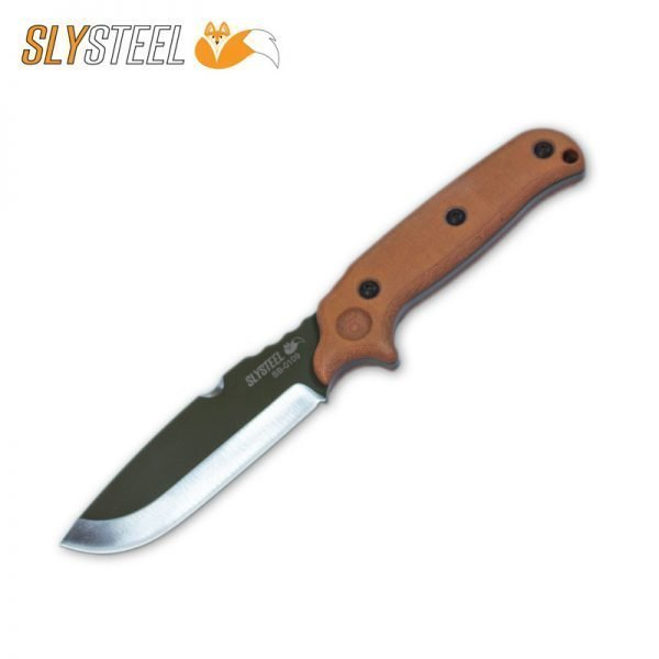 Photo of Skeletek Bushcraft OD Green powder coat knife for survival, hunting, and camping by SLYSTEEL