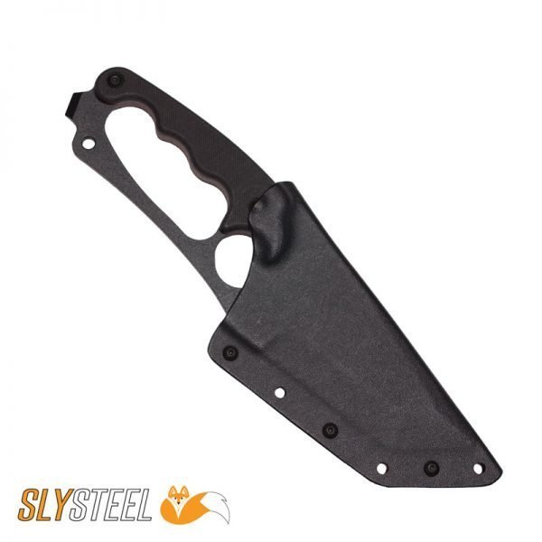 Photo of Shark Tooth Tactical Kydex sheath knife for firefighting, military and law enforcement by SLYSTEEL