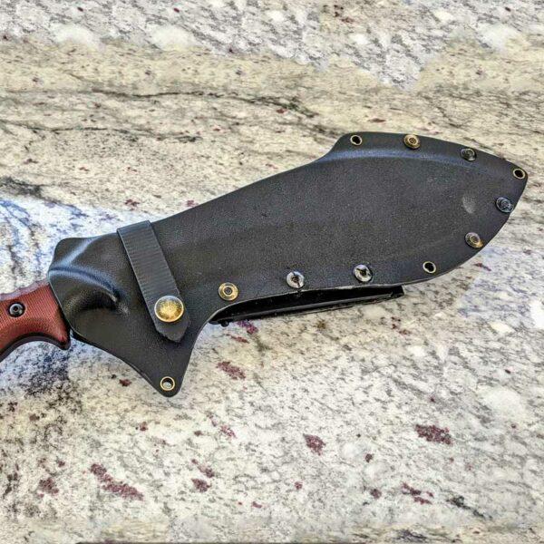 Survival Kukri with prototype black Kydex sheath.