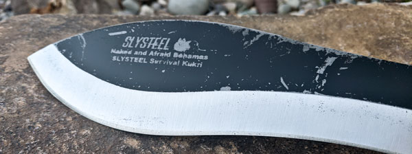 SLYSTEEL Survival Kukri side view restored after Jeff Zausch returned from the Bahamas on Naked and Afraid of Sharks 2